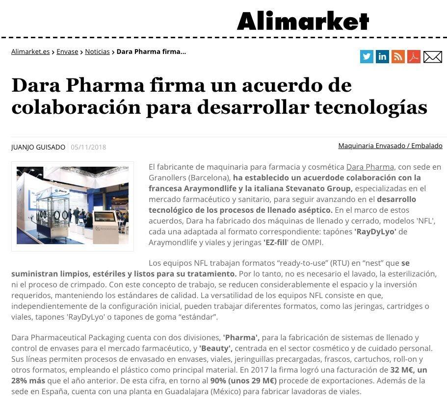 Dara Pharma en Alimarket 2018