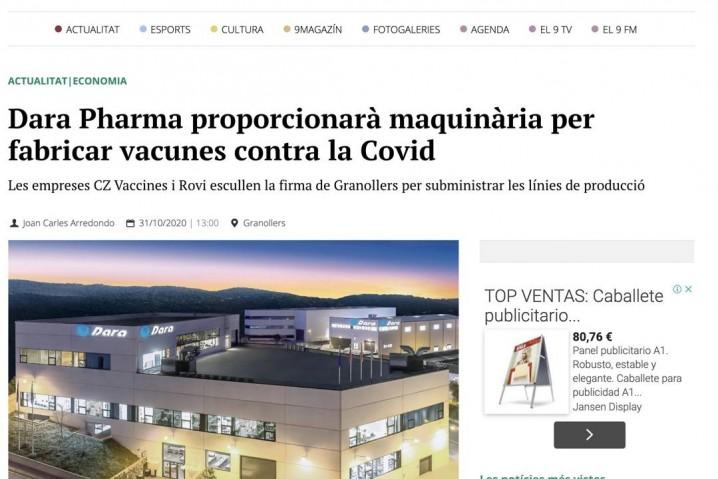 Aspecto exterior de la planta de Dara Pharma en Granollers