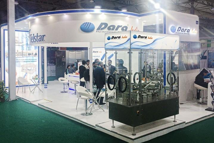 The stand of Dara Pharma during CPhI India