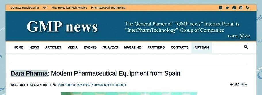 DARA es un fabricante de maquinaria farmacéutica de alta calidad que incluye lavadoras, unidades despirogenantes, máquinas de ll