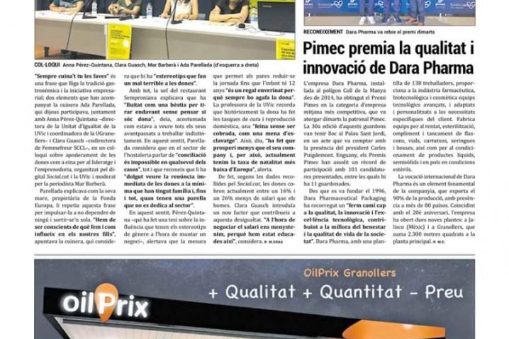 Pimec premia la calidad y la innovación de Dara Pharma