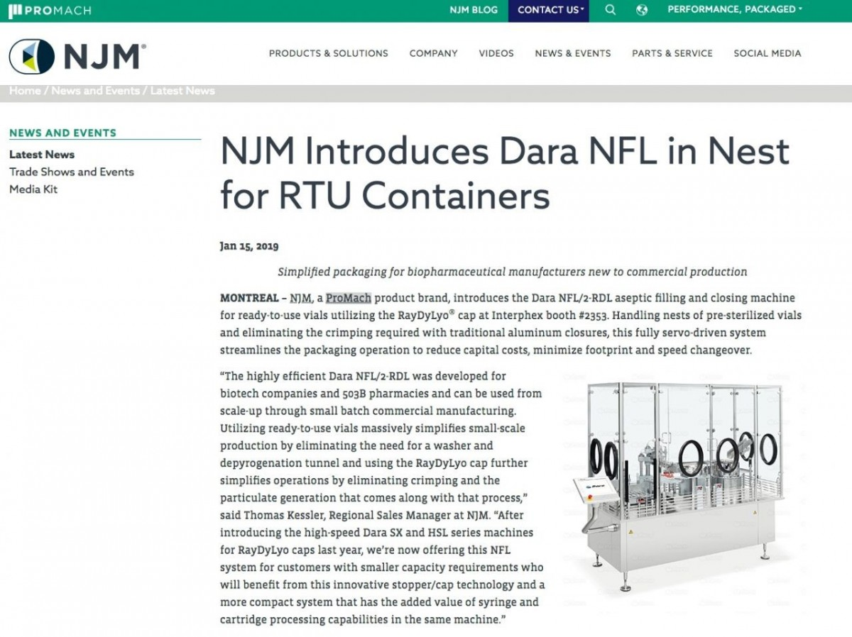 NJM Introduces Dara NFL in Nest for RTU Containers
