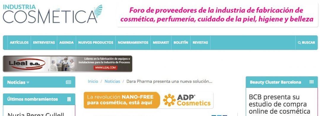 Dara Pharma presente las publicaciones de Industria Cosmética & Farmaespaña Industrial