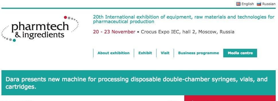 20th International exhibition of equipment, raw materials and technologies for pharmaceutical production - Pharmtech & Ingredien