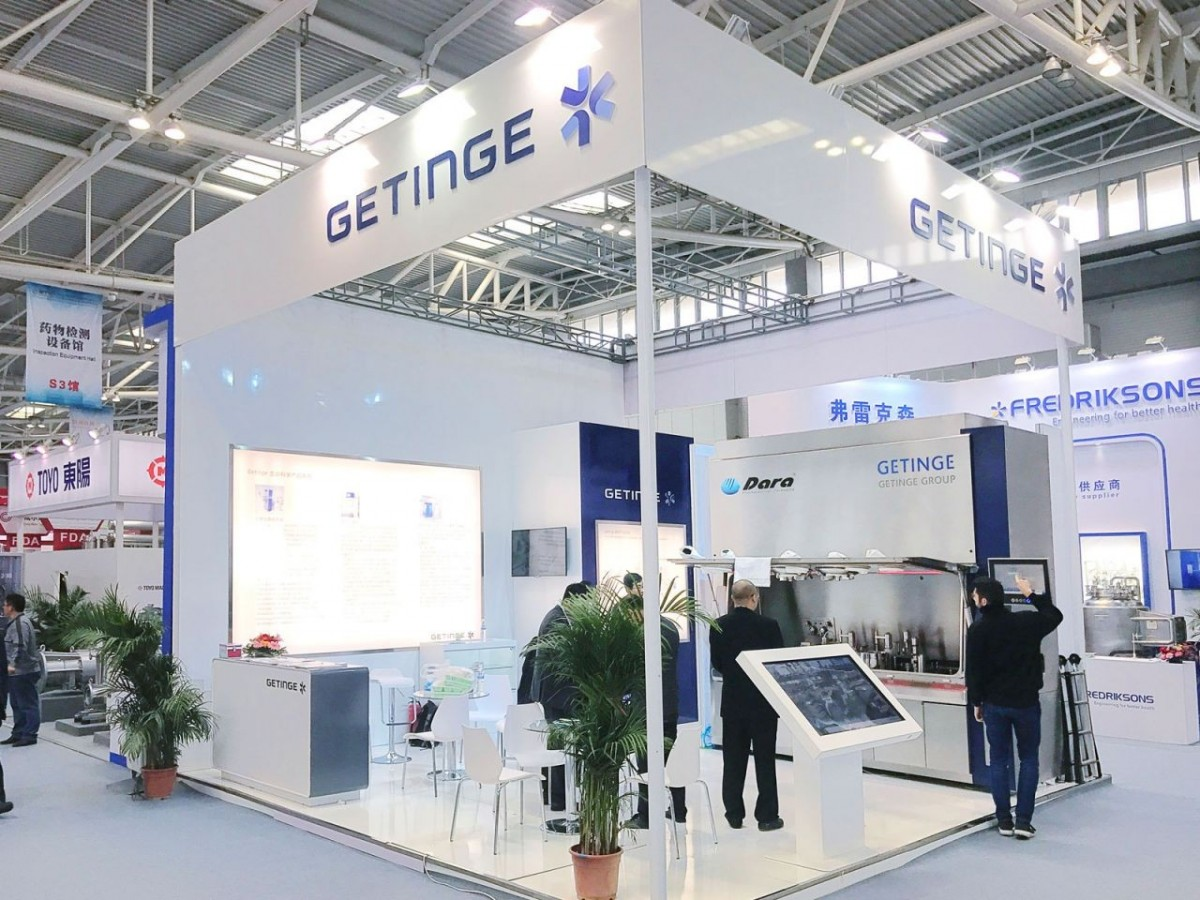 The Moduline machine, a new concept of aseptic filling line in insulator, was exposed in the stand.