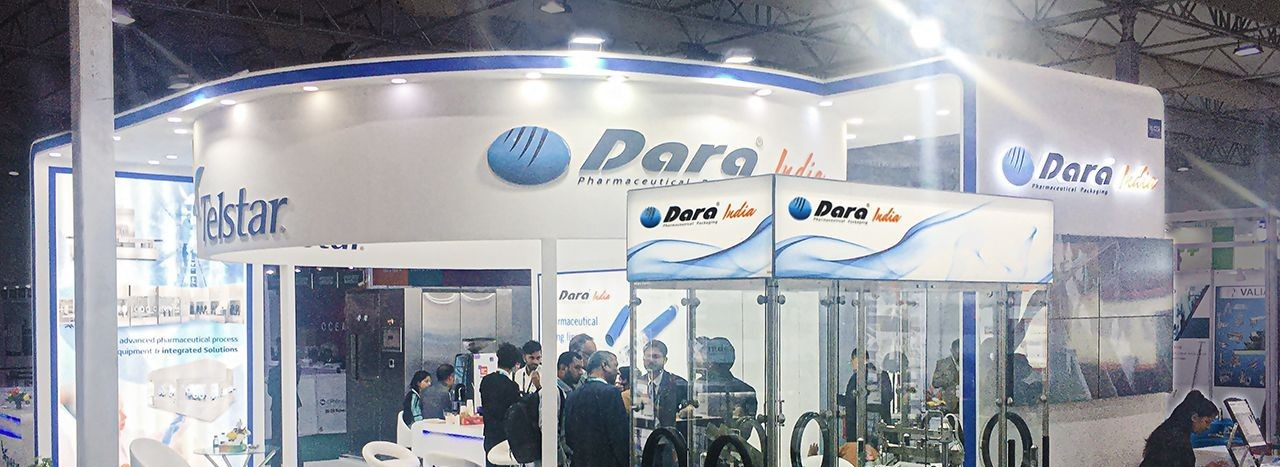 El stand de Dara Pharma durante CPhI India