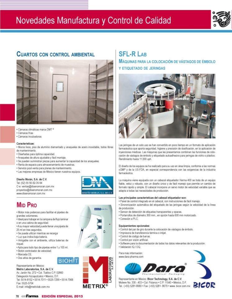 Maquinaria para la indústria farmacéutica