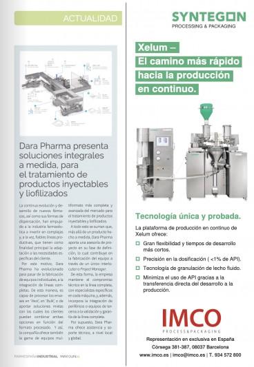 Nota de prensa Farmespaña Industrial Mayo - Junio